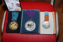 Paralympijské medaile Jolany Matouškové.