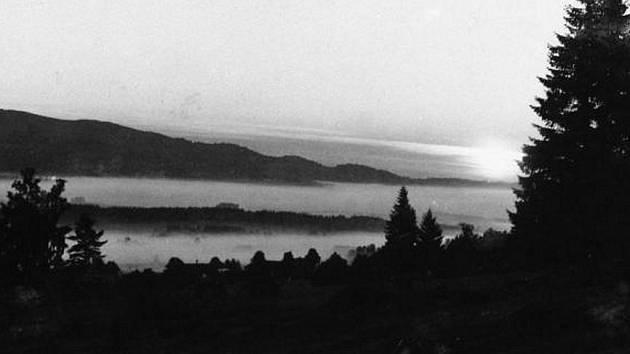 Mlha na Šumavě