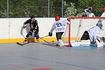 O víkendu se v Prachaticích hraje semifinále play off 1. ligy hokejbalu.