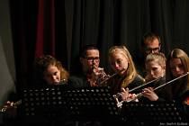 Koncert dechového souboru ZUŠ Vimperk ve Čkyni.