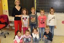 První třída v Základní škole v Lenoře.