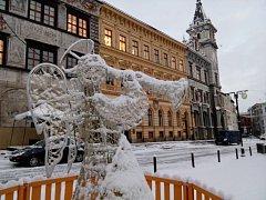 Prachatice, Velké náměstí. Ilustrační foto