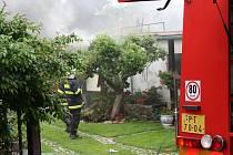 V neděli ráno hořel rodinný dům v prachatické ulici Pod Lázněmi.