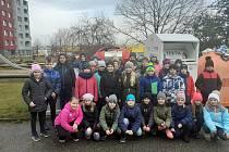 Základní škola a Mateřská škola Tábor, Helsinská 2732. Žáci při plnění úkolu Recyklohraní.