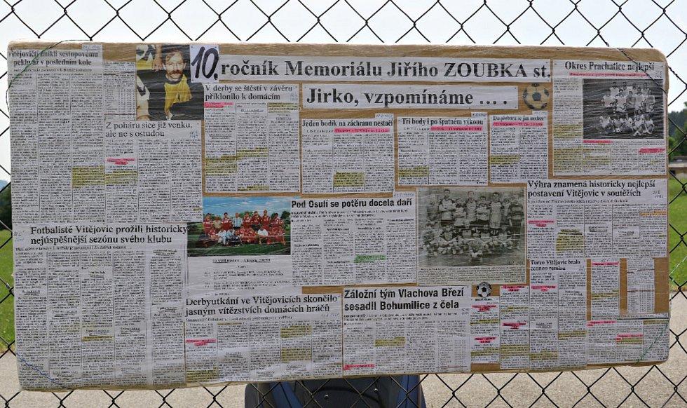 Memoriál Jiřího Zoubka staršího vyhrál prachatický Tatran.