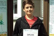 Školák Lukáš ze Zlaté stezky uspěl v řečnické soutěži.