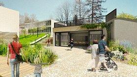 Vizualizace, jak by mohla vypadat školní zahrada v ZŠ Zlatá stezka.