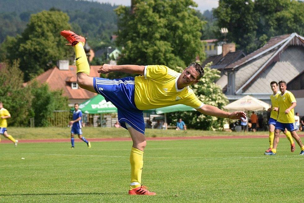 Fotbalová příprava: Vimperk - Čkyně 1:2.