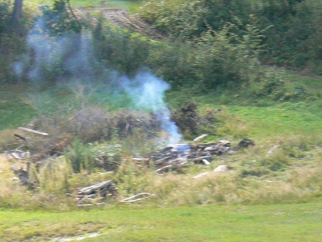 Strážníci vyjeli na telefonické upozornění na místo, kde docházelo k nepovolenému pálení. Ilustrační foto.