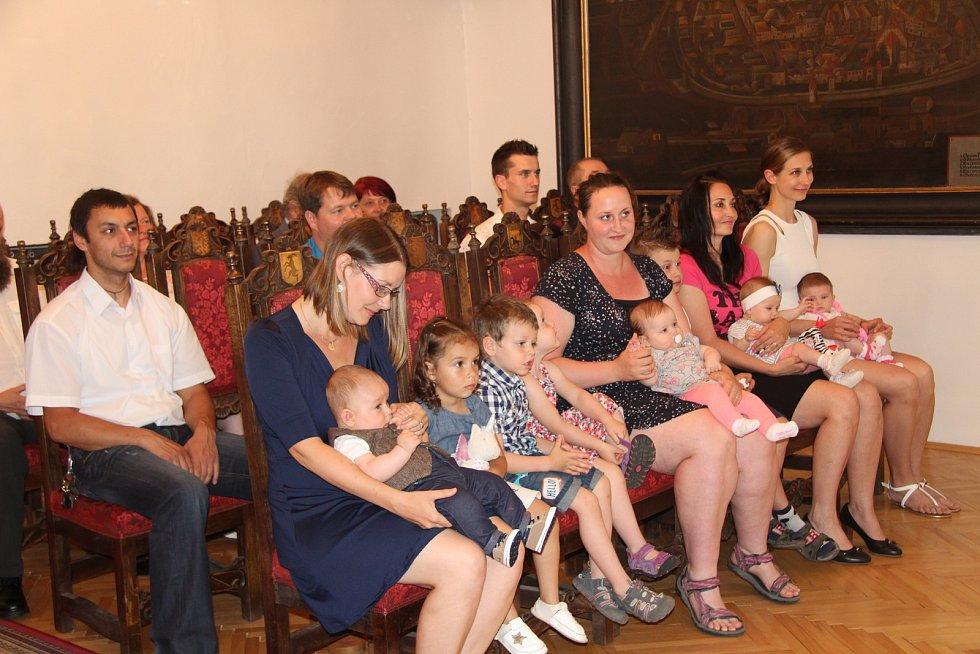 Poslední prachatické vítání občánků v letošním školním roce s Mateřskou školou v Zahradní ulici.