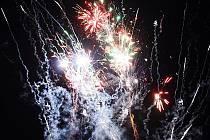 Novoroční ohňostroj v Prachaticích