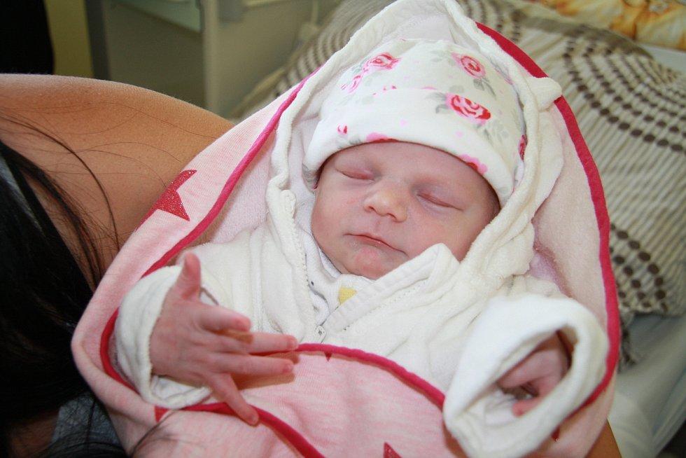 EMMA POUZAROVÁ, VOLARY. Narodila se v neděli 1. září ve 12 hodin a 5 minut v prachatické porodnici. Vážila 2800 gramů a měřila 51 centimetr. Má brášku Leoše (4 roky). Rodiče: Tereza Pouzarová a Petr Mrázek.
