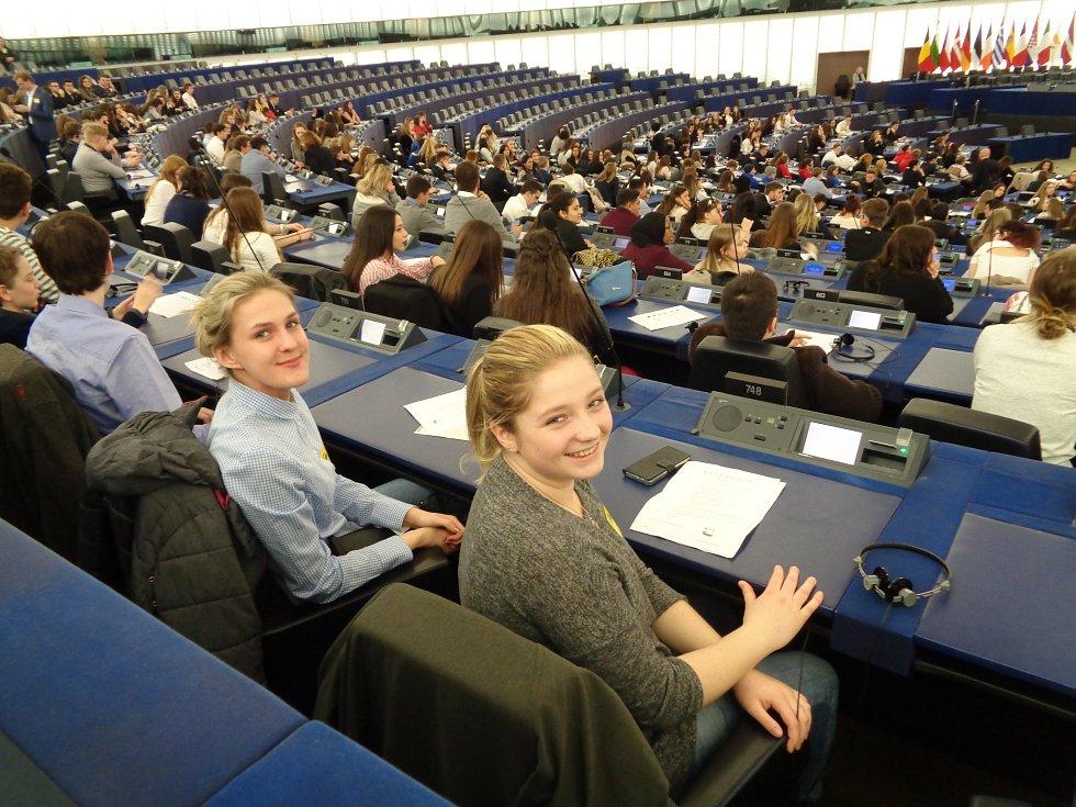 Evropský parlament navštívily studentky prachatické SPgŠ.