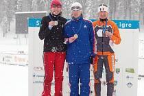 Šárka Grabmüllerová (vlevo) brala stříbro a bronz na OH masters.