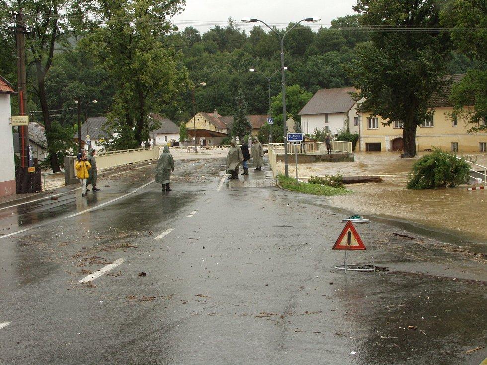 Povodně 2002 - Prachaticko - Husinec