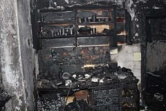 Požár bytu v ulici Svornosti ve Vimperku.
