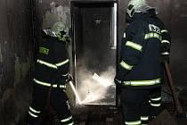Požár v obytném domě v obci Strážný.