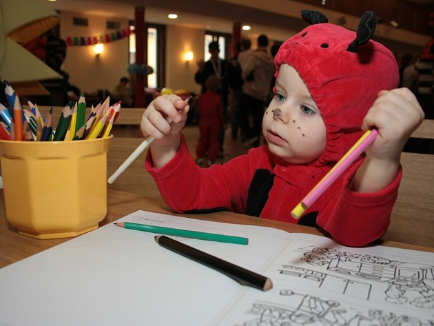 Sál Národního domu v Prachaticích se v neděli proměnil ve velký rej masek. DDM pro děti připravilo karneval. Pracovníci domečku se na dopoledne proměnili v klauny, pomáhalii dětem se soutěžemi i s tancem, ke kterému jim hrála skupina Peruť.