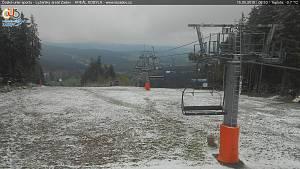 Sníh na Šumavě v polovině května