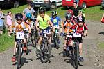 Seriál Cyklistických MTB střed pokračoval na zajímavé trati u prachatického Domova mládeže SPgŠ.