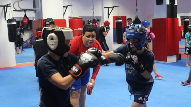 Vimperští boxeři trénovali s Wendy Kučerovou.