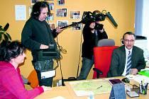 V hospici natáčela Česká televize.