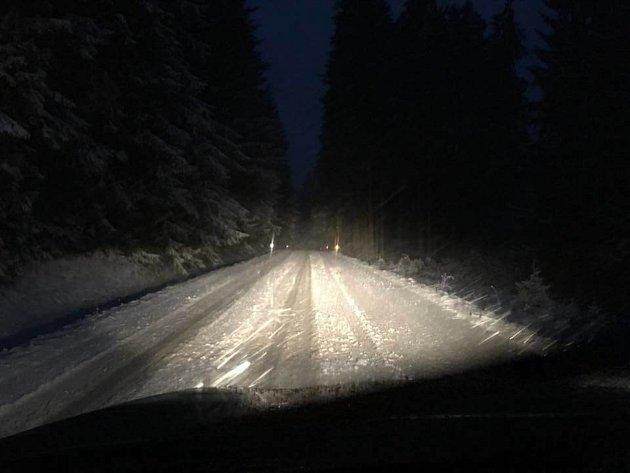 Svatý Martin letos přivezl sníh na Kvildu.