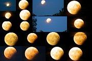 Částečné zatmění Měsíce, jak je zachytili naši čtenáři.