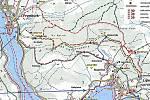 Mapa trasy u Lipna.