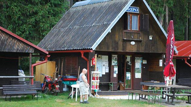 Kemp v Horní Vltavici.