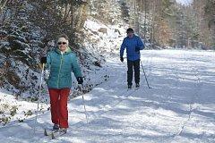 Prachatická tankovka má čerstvě připravenou stopu. Milovníci lyžování tak v pondělí 19. února vyrazili.