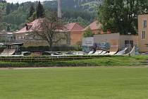 Současný stav skate parku v Prachaticích.