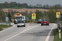 Křižovatka u Těšovic na Prachaticku