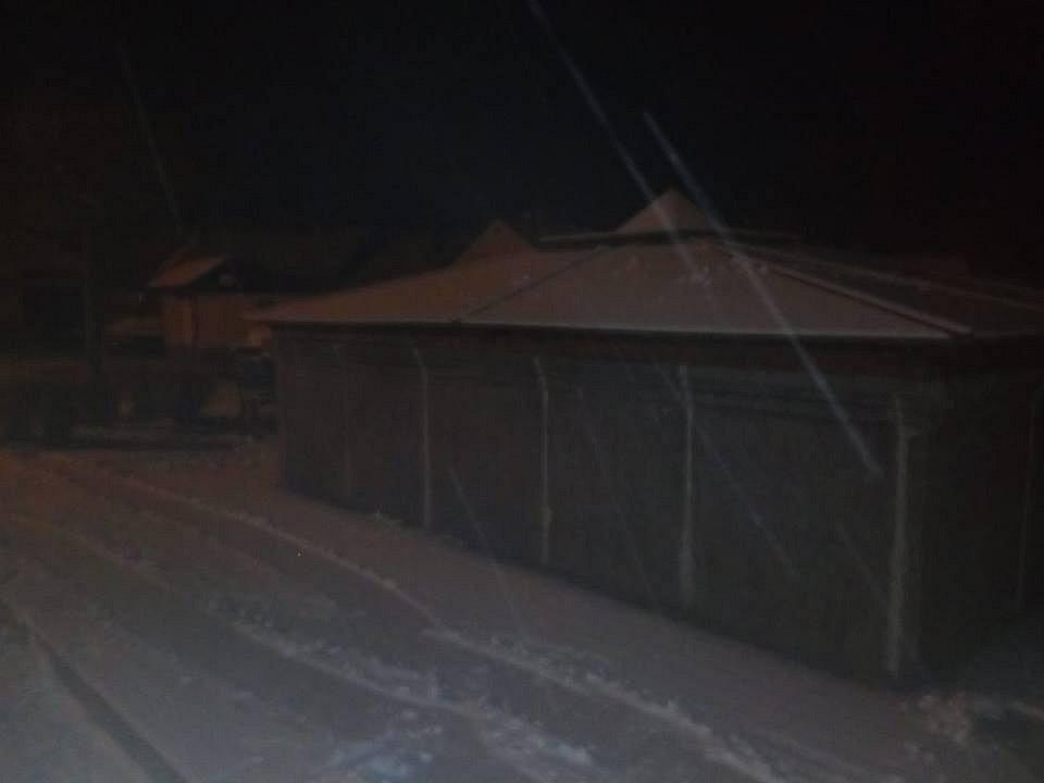 První sníh. Záblatí u Prachatic.