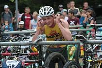Systémem start - cíl zvládl celou trať kategorie Easy při letošním Xterra Czech tour šestnáctiletý Michal Švorc.