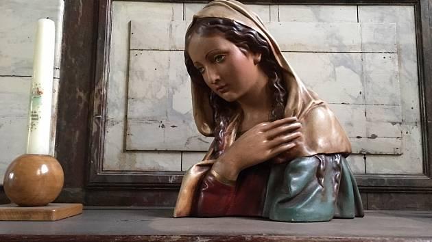 Brusel, kostel Saint - Denis, busta Svaté Aleny