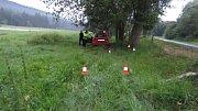 Do stromu narazil řidič felicie v Řasnici u Strážného.