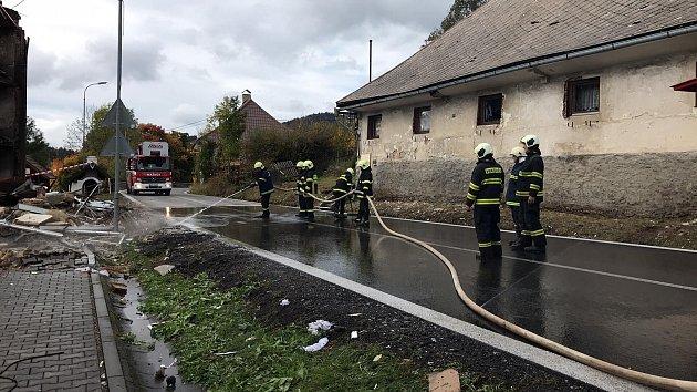 Lenora den po výbuchu plynu