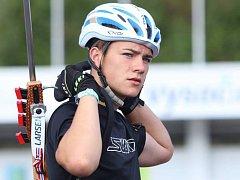Ondřej Mánek na MS juniorů v letním biatlonu.