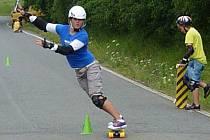 Eva Jedličková při skate závodech.