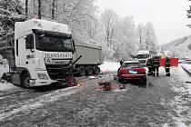 K tragické dopravní nehodě došlo v pátek ráno u Vimperku.