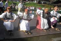 Folklórní soubor Libín na festivalu v bavorském Tittlingu.