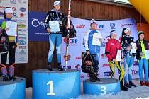 Mladí lyžaři ze Ski Sokola Stachy vybojovali na Českém poháru v Jablonci tři zlaté medaile.