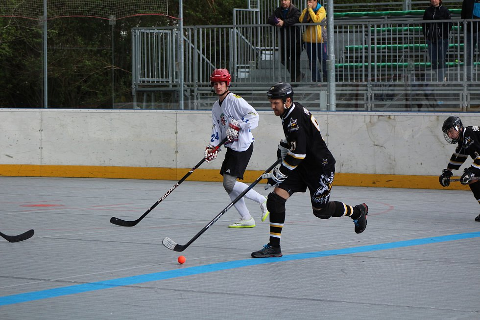 Čtvrtfinále play off I. ligy: HBC Prachatice - SK Jihlava 9:1.