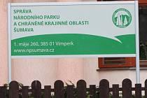 Sídlo Správy NP a CHKO Šumava ve Vimperku - ilustrační foto.