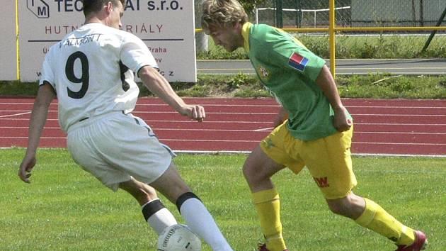 Martin Šicner (vpravo) dal jediný gól Tatranu.
