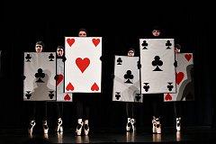 Taneční vystoupení vystoupení ZUŠ Prachatice v Městském divadle.