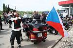 Krátké zastavení na pumpě u Vitějovic.