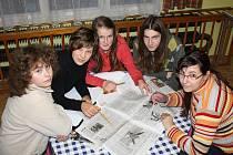 Mladí redaktoři na soutředění.