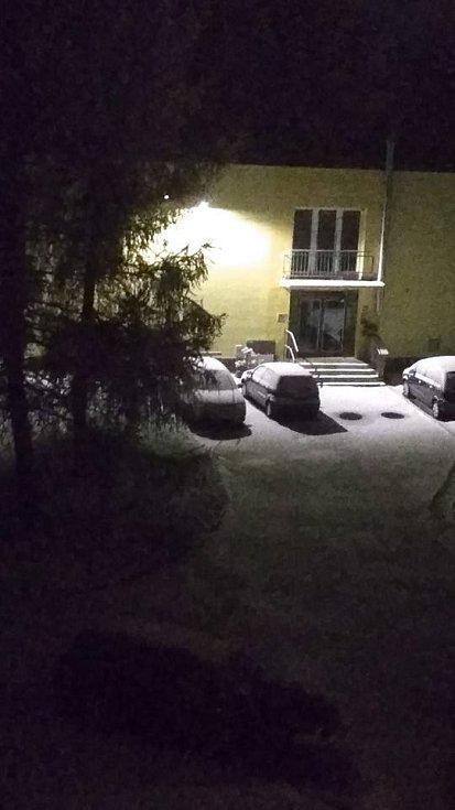 První sníh. Bavorov.